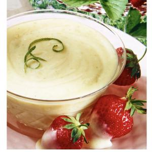 Lime Cream Dip for Strawberries